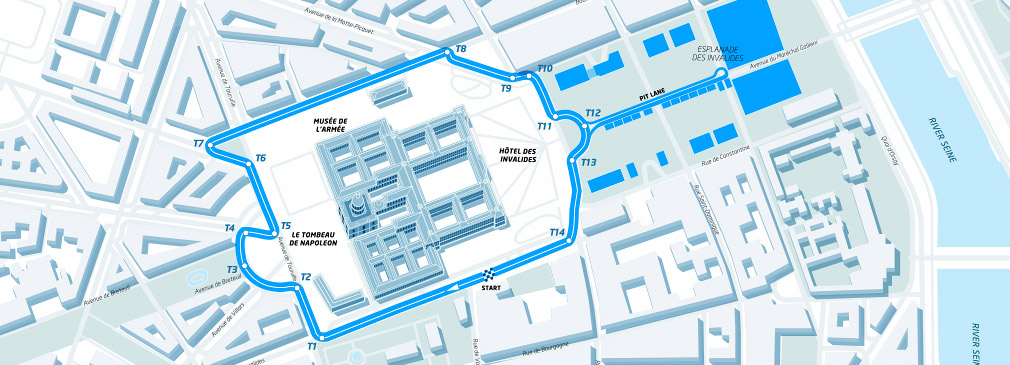 Plan du circuit du Paris ePrix