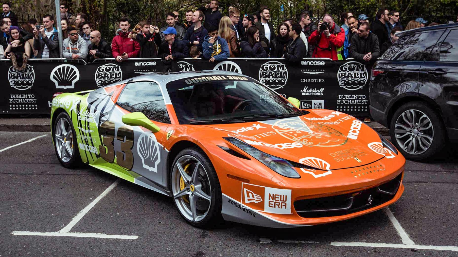 ferrari 458 italia gumball 3000 2016 carsception actualit automobile. Black Bedroom Furniture Sets. Home Design Ideas
