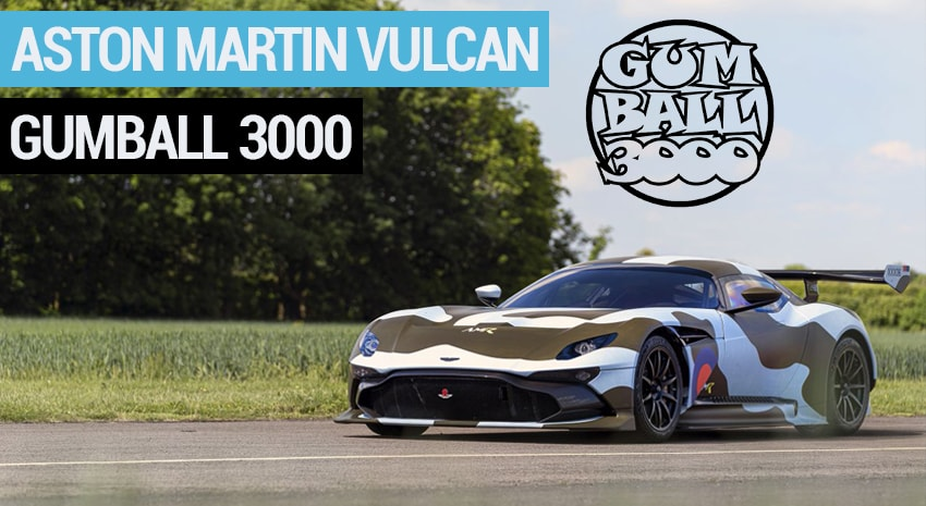 La seule Aston Martin Vulcan Road Legal au Gumball 3000 !